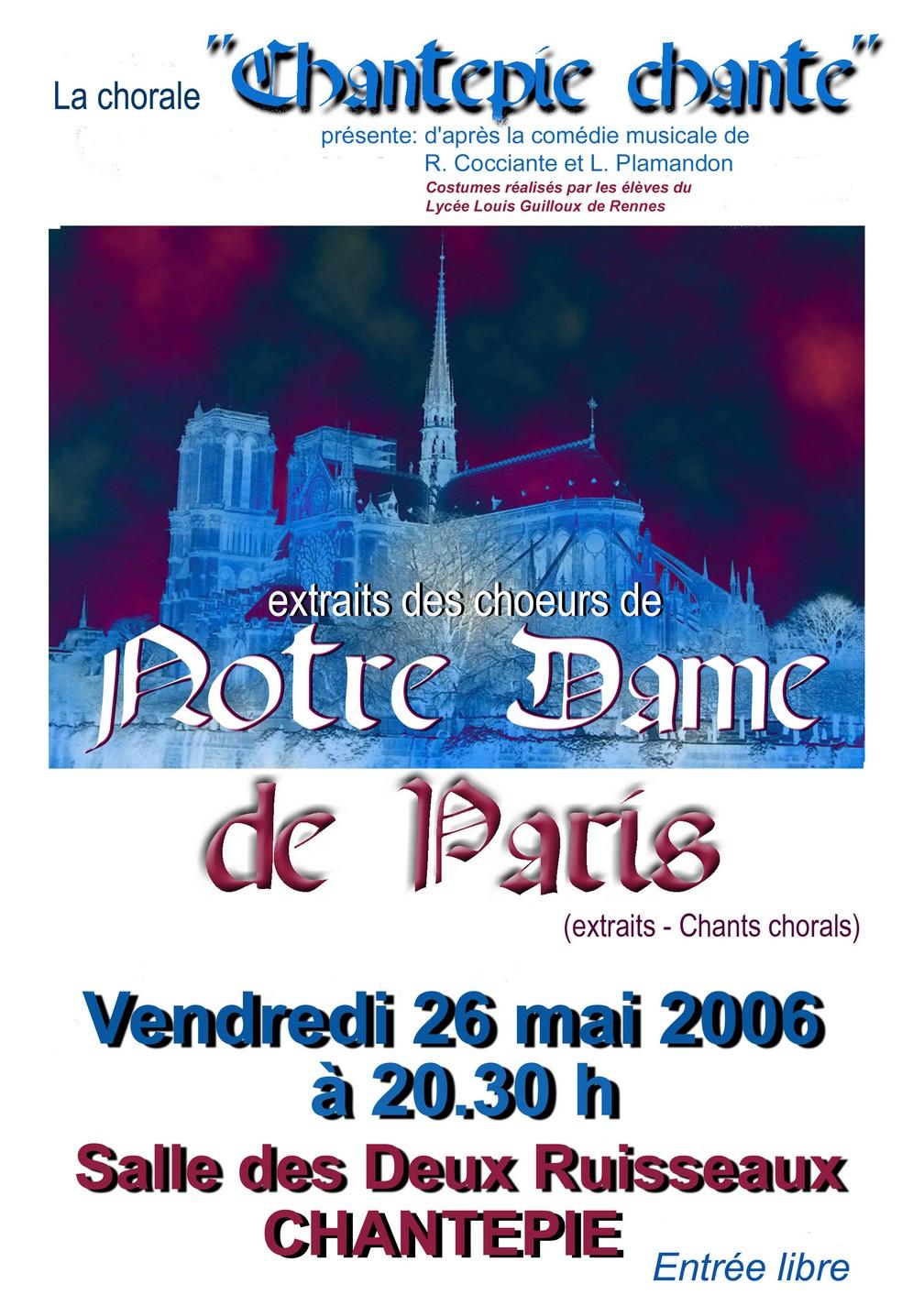"""Spectacle """"Notre Dame de Paris"""""""